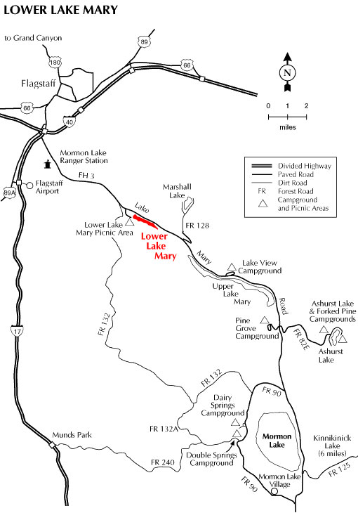 Lower Lake Mary Map
