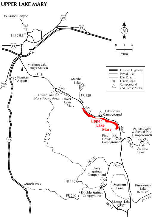 Upper Lake Mary Map