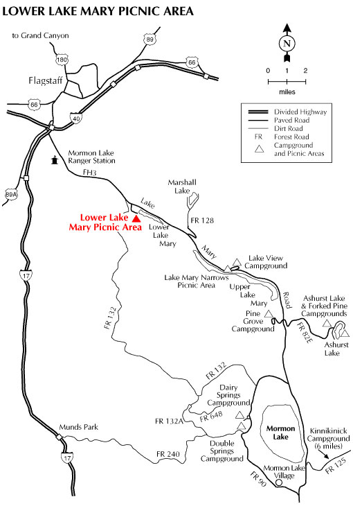 Lower Lake Mary Picnic Area Map