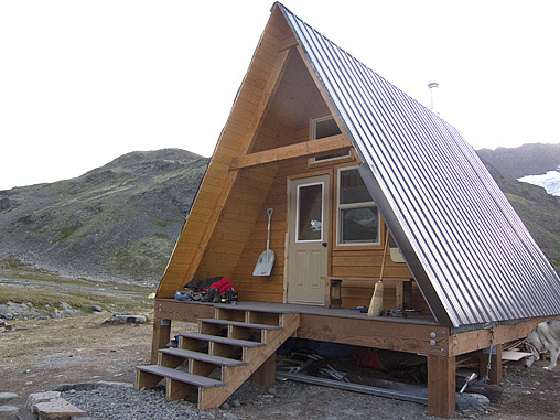 The new Cabin at Crow Pass