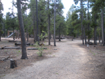 A photo of Pickle Gulch Group Picnic Ground. A playground and picnic tables in the background.