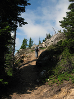 Hiking up Beckler Peak Trail. Photo by Gray Paull, US Forest Service.
