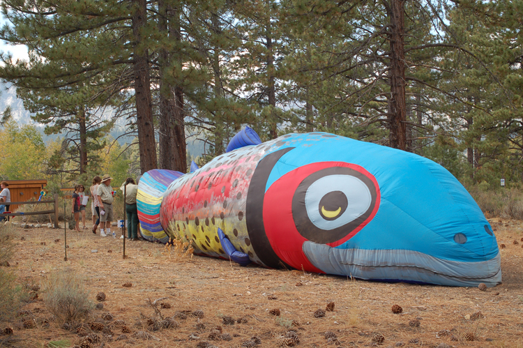 U.S. Fish and Wildlife Service's 40-foot inflatable fish.