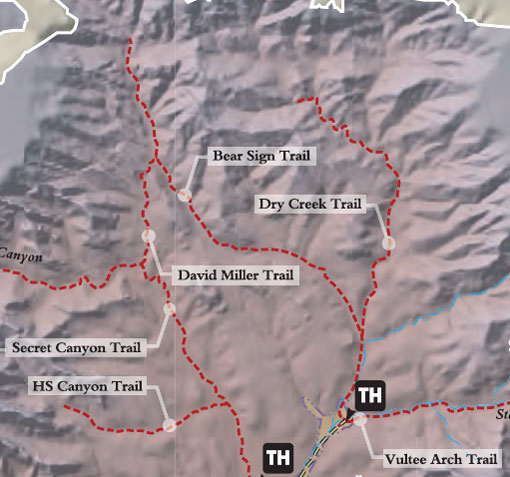 Dry Creek Trail Map