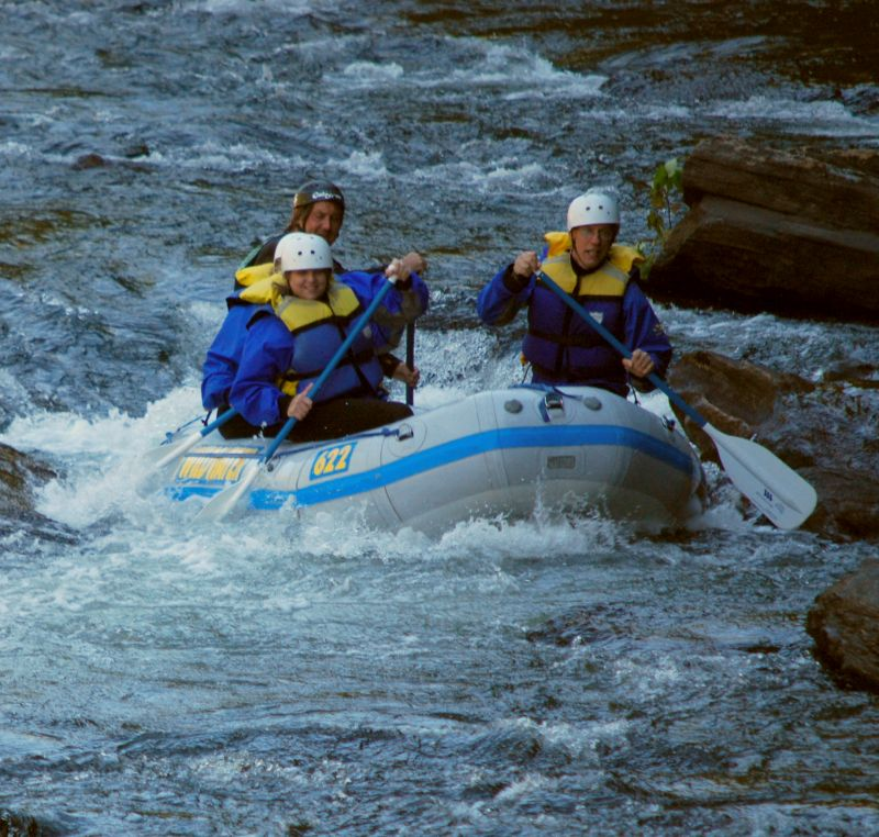 Rafters in rapid