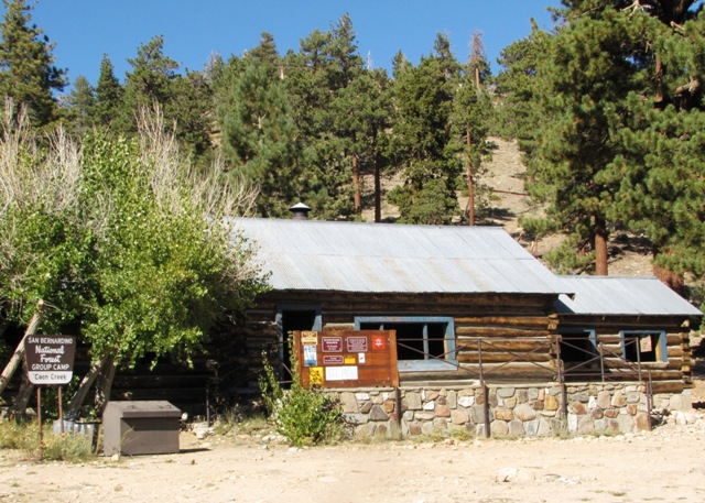 Coon Creek Cabin is a group camping site on the San Bernardino National Forest