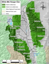 Map of White Mountain Ranger District