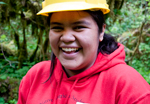 Samantha James, Ferndale High student and Lummi member.photo by Kelly Sprute, US Forest Service.