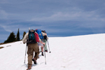 Volunteer Wilderness Rangers trudge up Granite Mountain. photo by Kelly Sprute, US Forest Service.