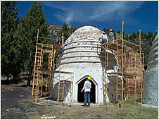 Photo of the B-D NF charcoal kiln restoration.