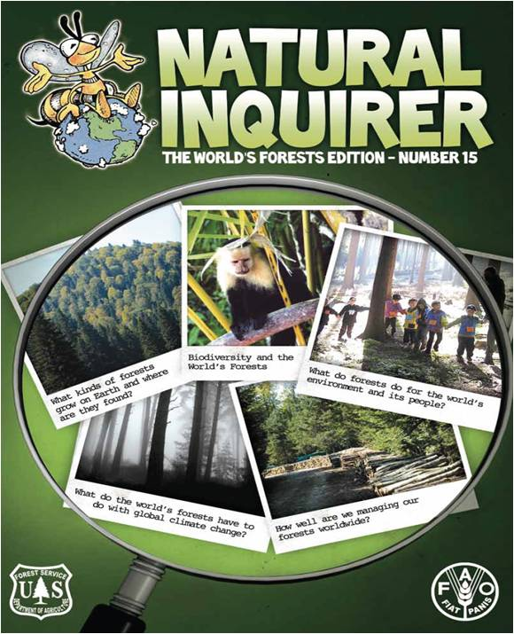 The cover of the Natural Inquirer World