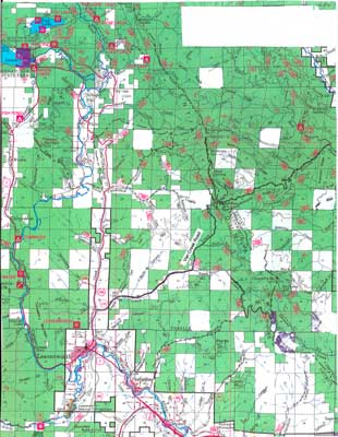 Christmas Tree Cutting map- near Leavenworth. Click for larger version.