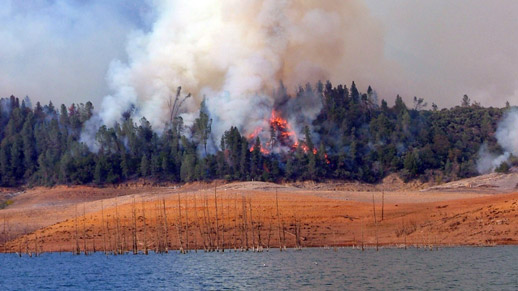 A prescribed burn near Shasta Lake