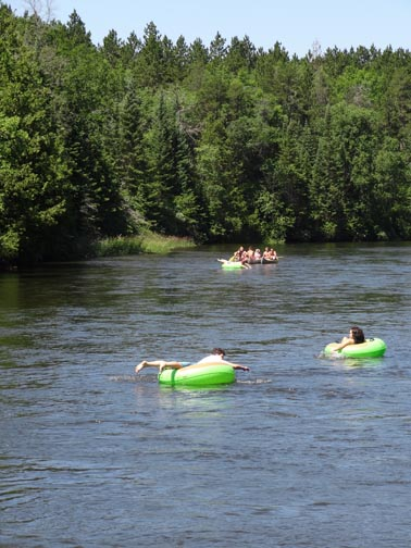 Tubing on the Au Sable National Scenic River