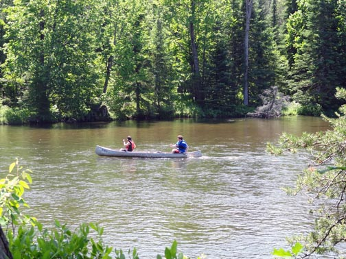 Canoeing on the Au Sable National Scenic River