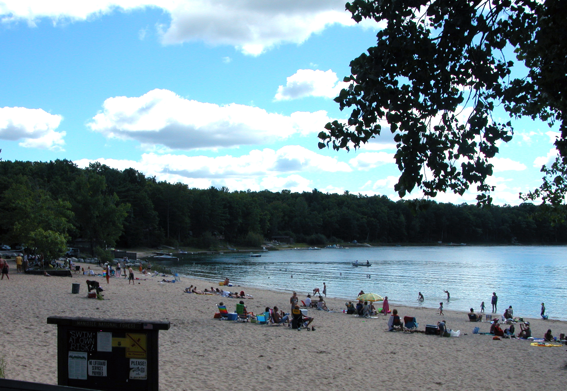 Swimming at Sand Lake Recreation Area