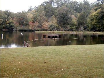 Photo of swim area at Shady Lake Recreation Area