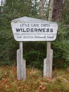 Little Lake Creek Wilderness sign