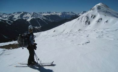 Backcountry Skiing above Silverton