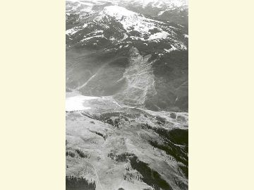 Gros Ventre Slide Aerial Black and White