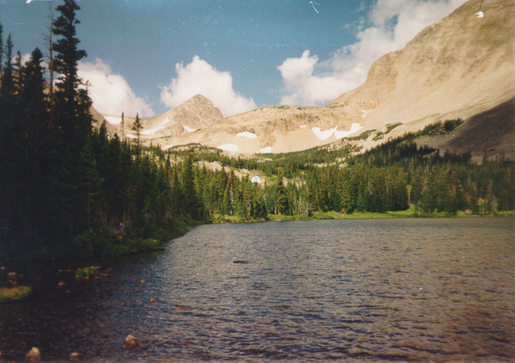 A beautiful view of Blue Lake, one of the two lakes visitors will encounter.