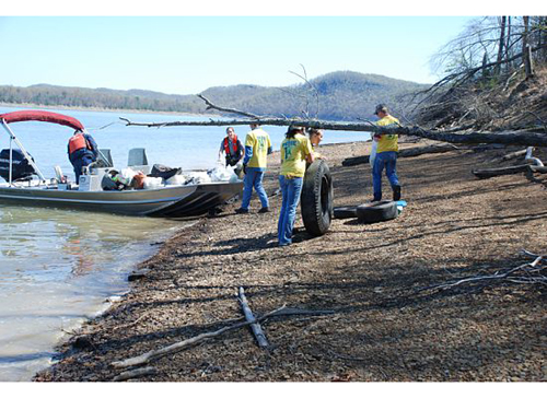 Cave Run Lake Cleanup