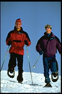 Photo of Peple Snowshoeing