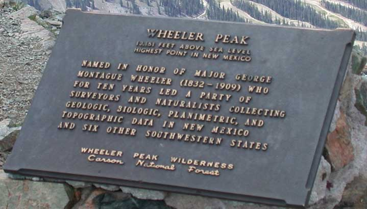 Sign when you reach the end of  Wheeler Peak Trail.