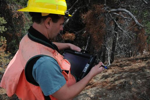 Digital aerial sketchmapping systems are used both to record data and to conduct ground checks