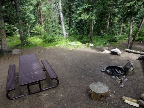 picture of site at Gore Creek Campground