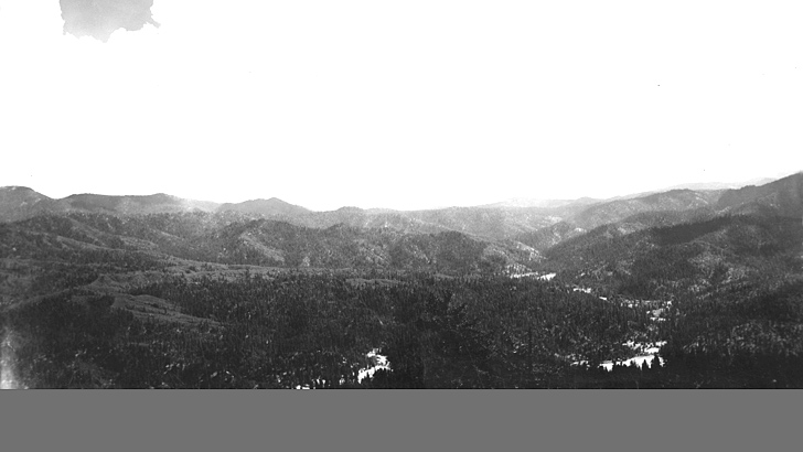 1938. From the summit of Plummer Peak looking south