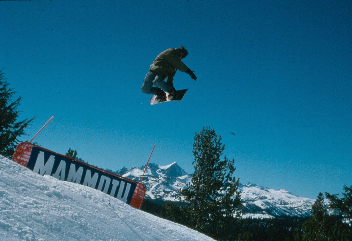 Snowboarder at Mammoth
