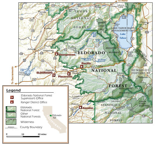 Eldorado Contact Us - Us national forests on a map