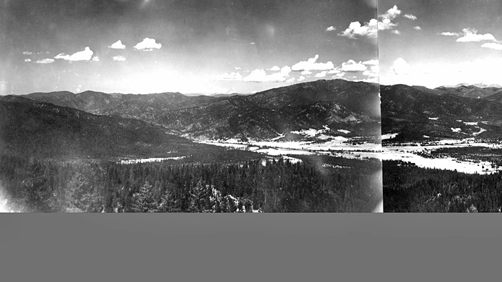 1938 - Looking north from Plummer Peak with Hayfork Valley in the foreground