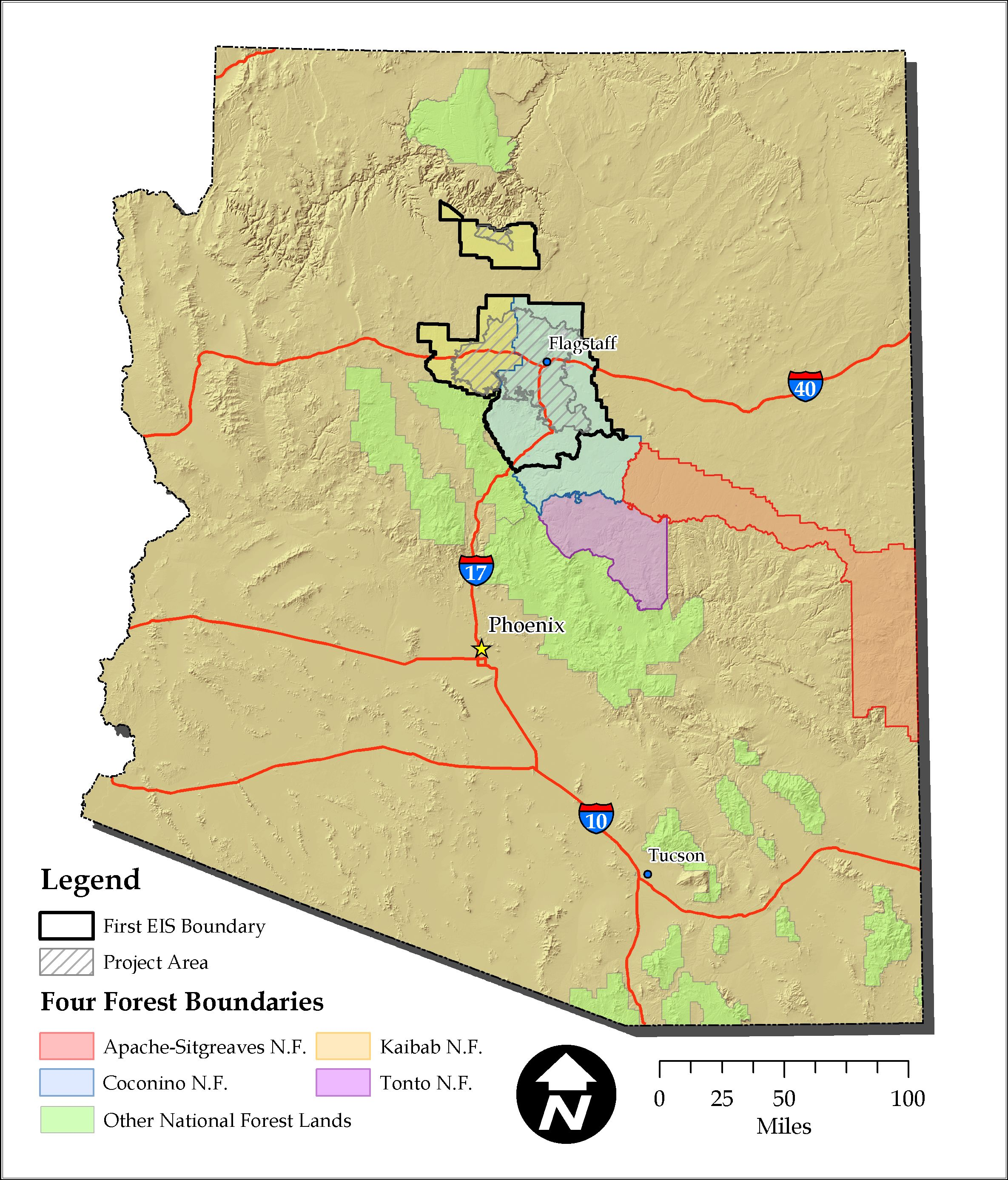 Four Forest Restoration Initiative Geospatial Data