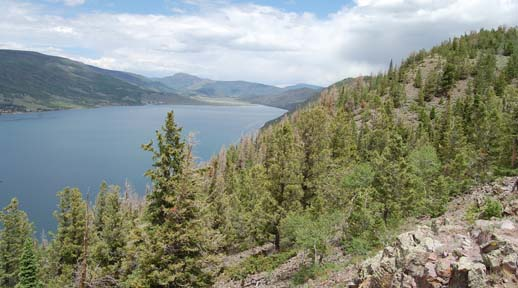 View of Fish Lake from an overlook near the south end of the lake