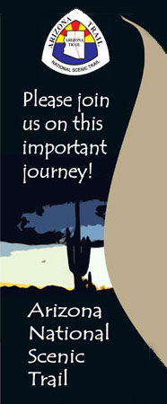 Graphic with Arizona Trail Logo and Please join us on this important Journey!