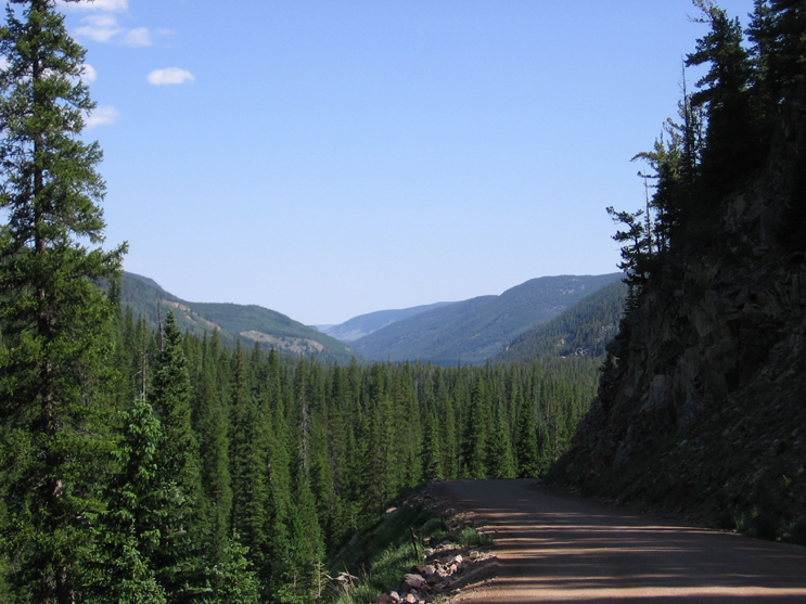 A beautiful and scenic view of the Laramie River Road. Road is used heavily during the winter months