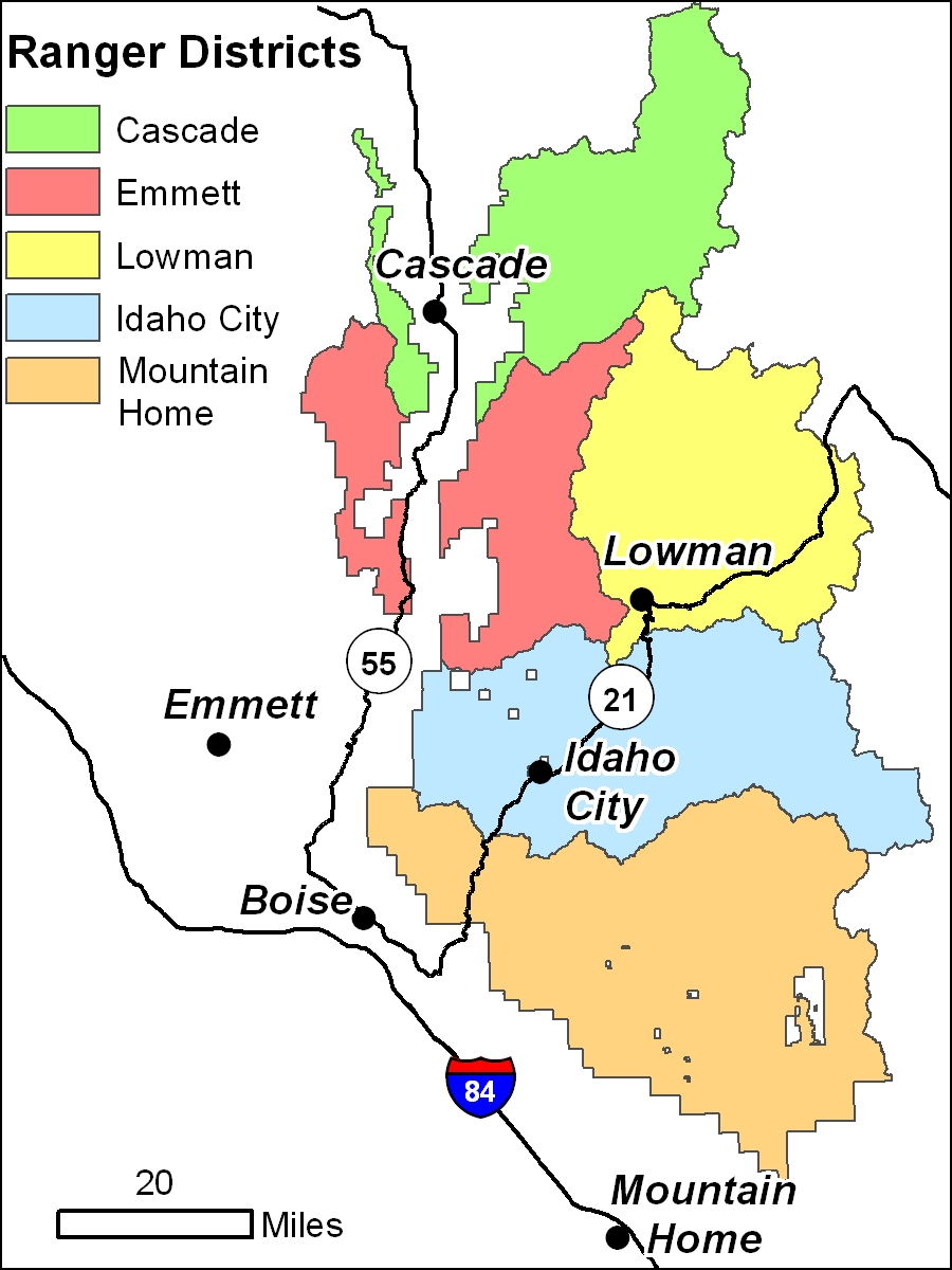 Boise National Forest Home - Us forest service ecoregion map