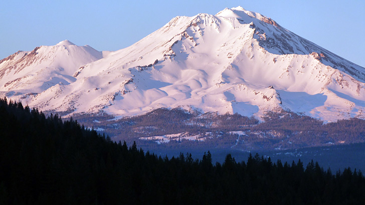 A view of Mt. Shasta on a clear day