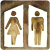Image of a Men and Ladies Restroom