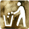 Image of a person throwing garbage in a trash recepticle