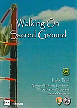 Scan of Walking on Sacred Ground video cover.