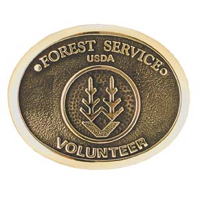 Forest Service Volunteer Belt Buckle