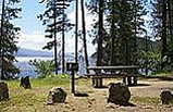 Photo of Reader Bay campground on Idaho Panhandle National Forest.