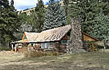 Photo of the Morgan Case cabin before restoration on the Lolo National Forest.