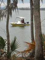 Boating at Cagle Recreation Area on the Sam Houston National Forest