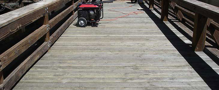 Lake Fulmor Accessible fishing pier finishing reconstruction