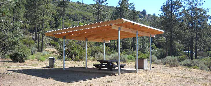 Lake Hemet picnic area shade structure replacement