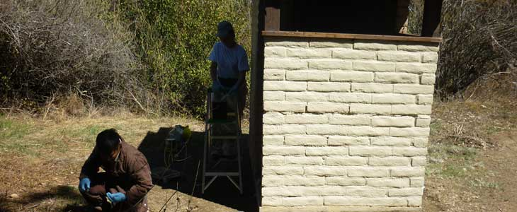 Middle Lion Campground toilet after painting